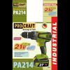 Шуруповерт аккумуляторный Procraft PA214