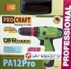 Аккумуляторный шуруповерт PROCRAFT PA 12 PRO DFR